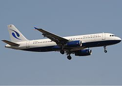 Airbus A320-200 der Blue Wings