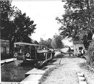 Naviduct - Riley's Lock (Lock 24) which doubled as the aqueduct over Seneca Creek, on the Chesapeake and Ohio Canal