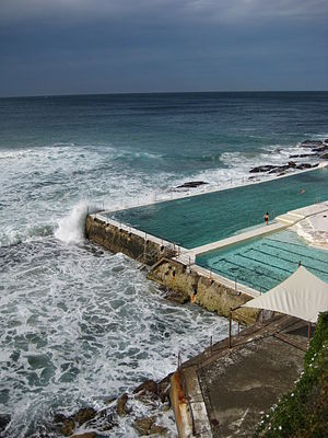 Bondi Icebergs Club - Bondi Baths, a swimming pool managed by the Bondi Icebergs Swimming Club
