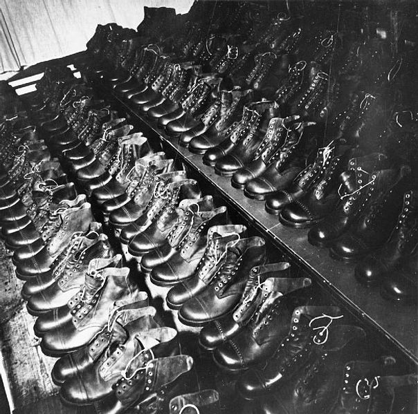 File:Boots, Boots, To Go Up and Down in Africa- the Salvage and Repair of Army Boots, Somerset, England, 1943 D13198.jpg