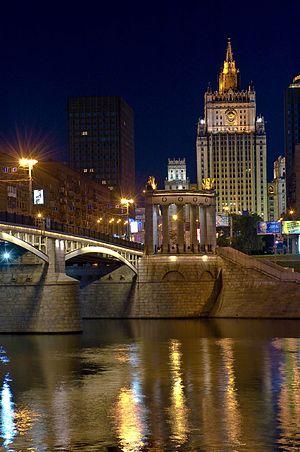 Borodinsky Bridge - Borodinskiy Bridge at night
