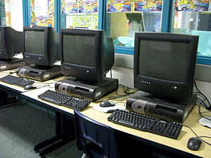Some of the computers in Boxwood.