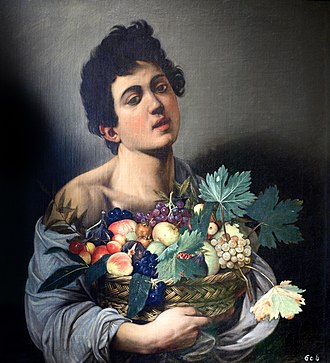 1593 in art - Caravaggio, Boy with a Basket of Fruit, 1593