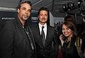 Brad Pitt, John Bradley and Lisa Fernandez (15570734006).jpg