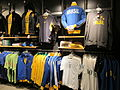 Brazil football gear, Niketown SF.JPG