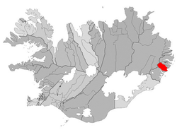 Location of the Municipality of Breiðdalshreppur