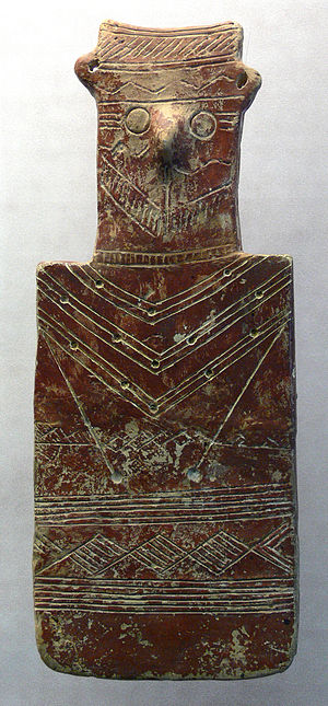 History of Cyprus - Cypriot cult image. 'Red Polished Ware', 2100–2000 BC. Museum zu Allerheiligen