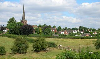 Brewood village in United Kingdom