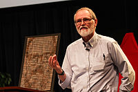 Brian Kernighan in 2012 at Bell Labs 1.jpg
