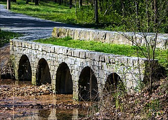 Hobbs State Park – Conservation Area - Historic bridge leading to the Van Winkle site