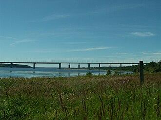 Kineshma Bridge - Kineshemsky Bridge from Porozovo