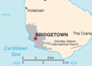 Location of Bridgetown (red star)