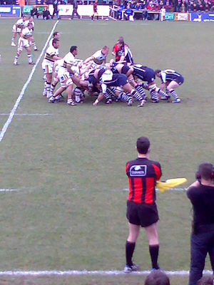 Bristol Rugby - Bristol playing Northampton during the 2007–08 Premiership.