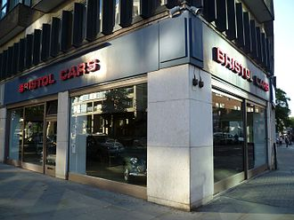 Bristol Cars - The Bristol Cars showroom on Kensington High Street