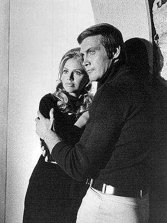 Britt Ekland - Ekland with Lee Majors in The Six Million Dollar Man (1973)