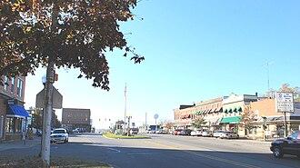 Brooklyn, Michigan - Main Street downtown area