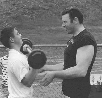 Bruce Randall - Randall (right) at the Special Olympics in 1970