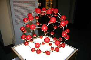 Truncated icosahedron - Image: Buckminsterfullerene Model in Red Beads