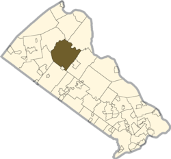 Location of Bedminster Township in Bucks County
