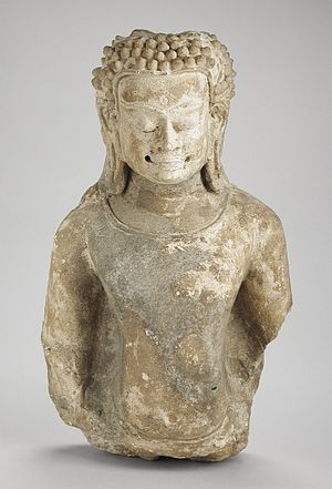 Hariphunchai - A Hariphunchai statue of the Buddha Shakyamuni from the 12th-13th century CE