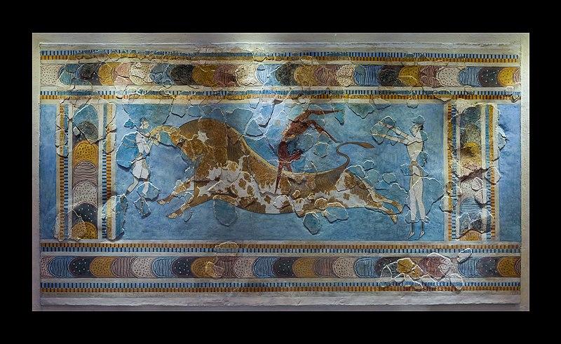 Bull leaping minoan fresco archmus Heraklion.jpg