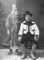 Traditional Folk Clothing Of Eastern Telemark 1880s