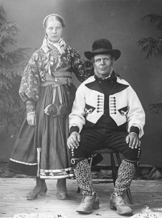 Bunad - Traditional folk clothing of eastern Telemark, 1880s