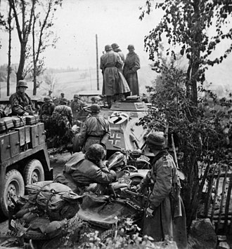 3rd SS Panzer Division Totenkopf - Motorized troops of the division during Operation Barbarossa in September 1941