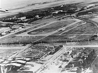 Warsaw Chopin Airport - The destroyed PZL works at Warsaw Okęcie in 1939.