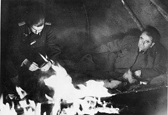 Organisation Todt - Albert Speer (right) in Finland in the winter of 1943–1944