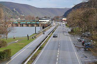 Bundesstraße 9 - Bundesstraße 9 in Oberwesel