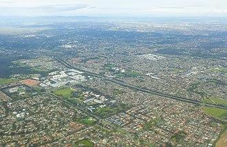 Bundoora, Victoria - Aerial view of Bundoora (2017)