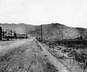 Burbank, California - Olive Avenue in Burbank, 1889