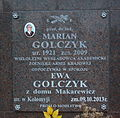 Burial place of Marian and Ewa Golczyk at Central Cemetery in Sanok (columbarium).jpg