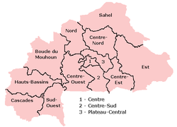 Rexións de Burkina Faso