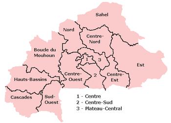 Regions of Burkina Faso.