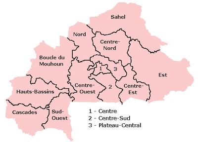 Burkina Fasos regioner
