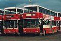 Bus Éireann buses KD49 (49 JZL) & KD183 (183 JZL), Capwell depot, Cork, 1995.jpg