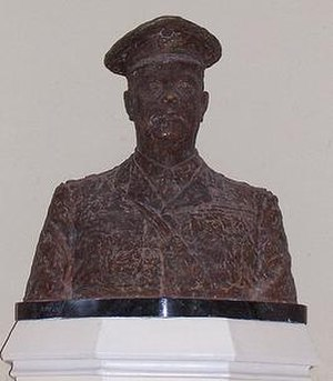 Currie Hall - Bust of General Sir Arthur Currie (1969) by Alison MacNeil in Royal Military College of Canada Currie Hall