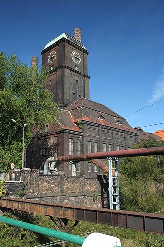 Szombierki Heat Power Station - Historic clock tower at the Szombierki Power Plant