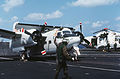 C-1A Trader on cat USS Midway (CV-41) 1984.JPEG