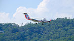 CAA MOTC Beechcraft Super King B350iER B-00101 on Final Approach at Taipei Songshan Airport 20150908e.jpg