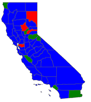 California Superintendent of Public Instruction election, 2002 - Image: CA SPI 02Counties