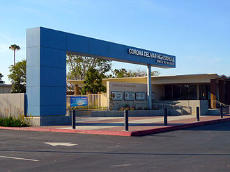 Corona del Mar High School - Corona del Mar High School Front Entrance: April 2015