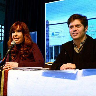 Cristina Fernández de Kirchner - Kirchner with minister of economy Axel Kicillof