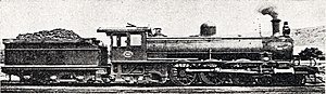 South African Class 5A 4-6-2 - Image: CGR Karoo Class no. SAR 721