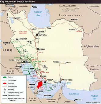 Energy in Iran - Iran holds 10% of the world's proven oil reserves and 15% of its gas. It is OPEC's second largest exporter and the world's fourth oil producer.