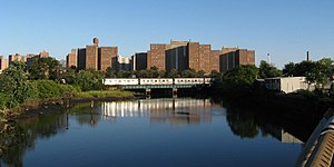 Coney Island Creek - A New York City Subway train crossing the Coney Island Creek