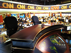 CNN - Replica of the newsroom at CNN Center.