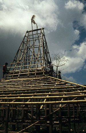 Sumbanese traditional house - Construction of a Sumbanese house.